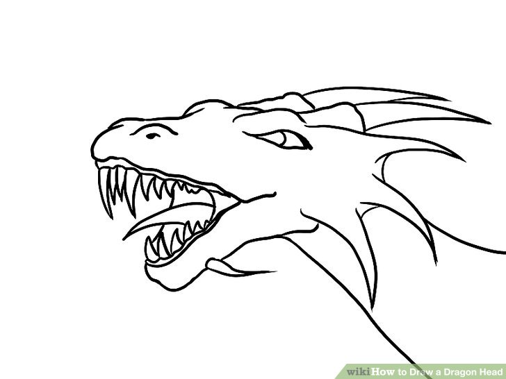 728x546 How To Draw A Dragon Head (With Pictures)