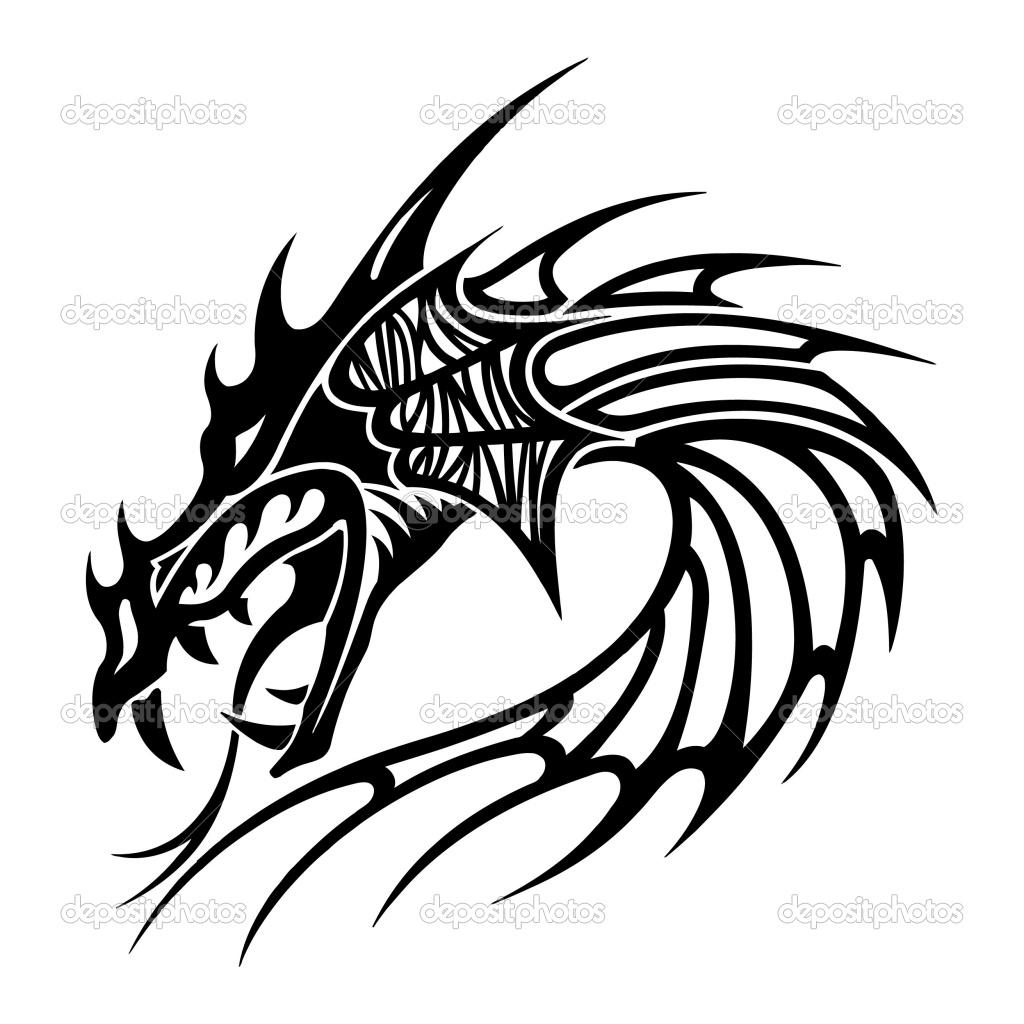 1024x1024 Latest Tribal Dragon Tattoos Designs
