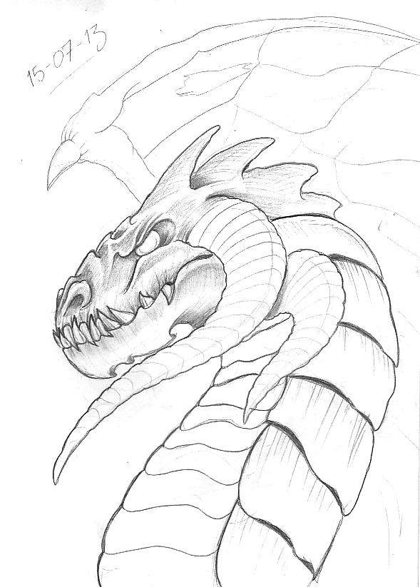 589x823 Tattoo Sketch A Day Dragons July 15th