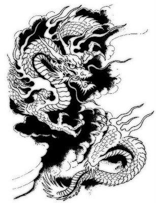 307x400 Japanese Dragon Tattoo