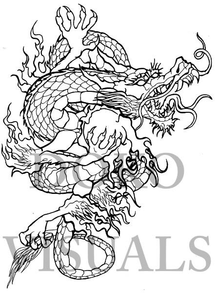 449x600 Japanese Dragon Tattoo Design By Ojibway Doko