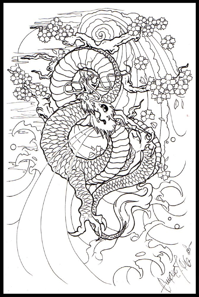 671x1000 Moon Dragon Japanees