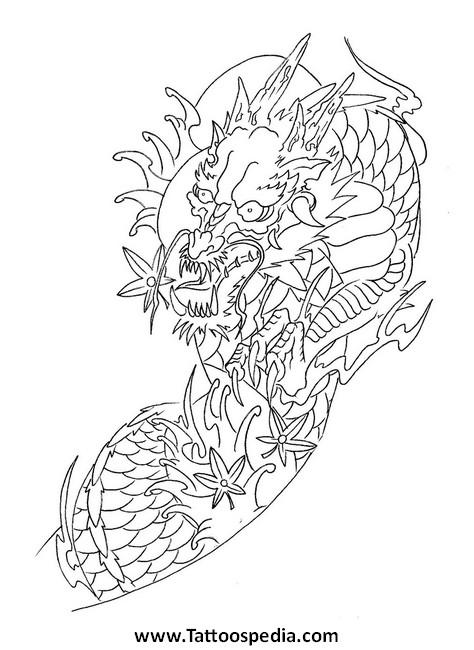 474x650 Floral Dragon Art