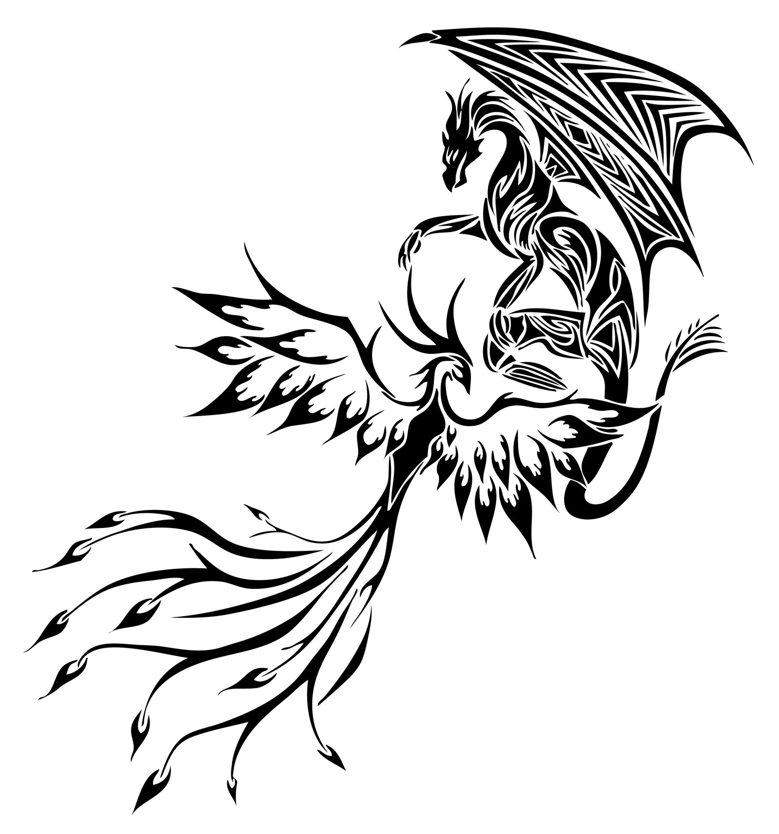 1600x1714 60 Awesome Dragon Tattoo Designs For Men