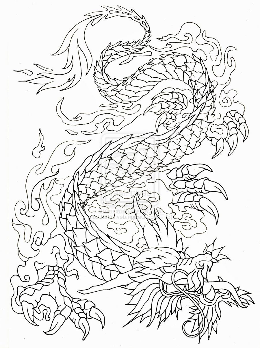 900x1204 Japanese Dragon Tattoo Outline Dragon Tattoo Designs , Best Tattoo