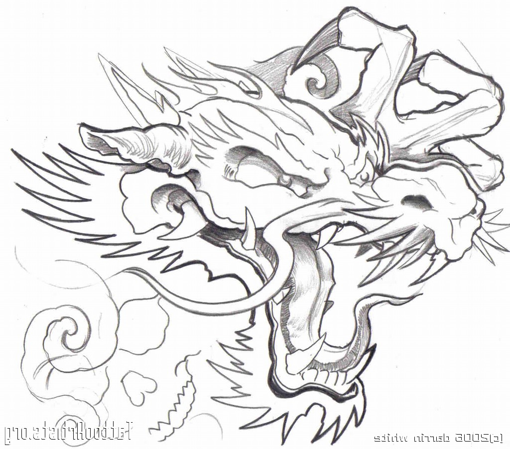 1024x903 Japanese Dragon Tattoo Outline Outline Japanese Dragon Tattoo