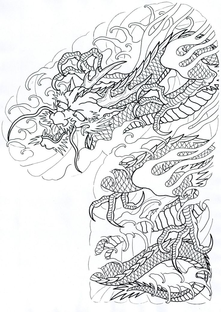 736x1039 Tattoo, Dragons And Japanese