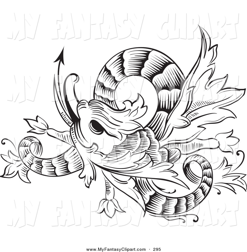 1024x1044 Clip Art Of A Black And White Coloring Page Twisting Chinese