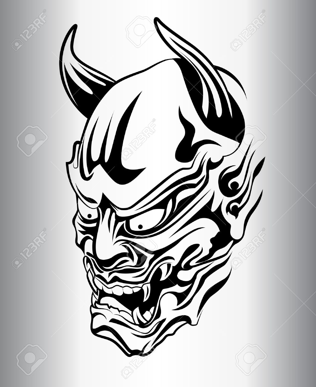1060x1300 Japanese Demon Tattoo Drawings
