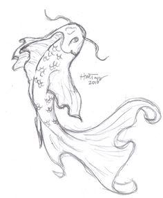 236x286 Koi Fish Drawings In Pencil