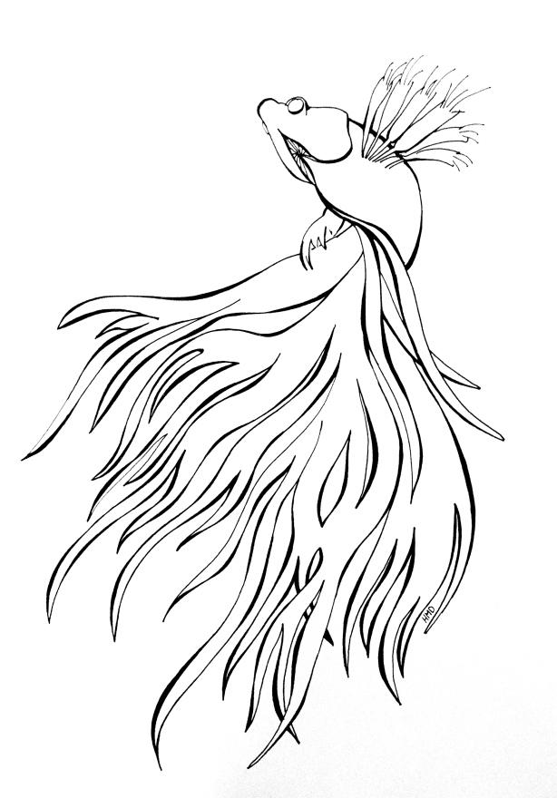 614x880 Fighter Doodle Art Sharpie Drawing Beta Fish, Sharpie Art