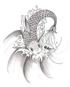 300x371 Japanese Koi Fish Tattoo Bocah's Blog