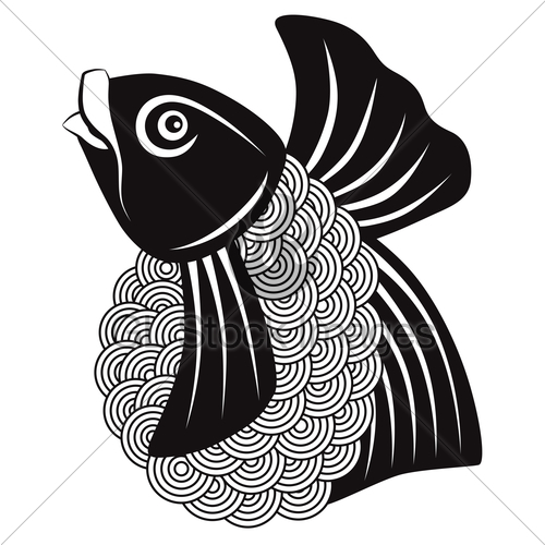 500x500 Japanese Or Chinese Koi Fish Illustration Gl Stock Images