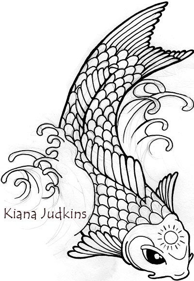 400x578 Koi Fish By Wikidtron