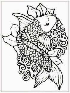 236x314 Pyrography Koi Fish Pyrography Koi Artist Colette Begg