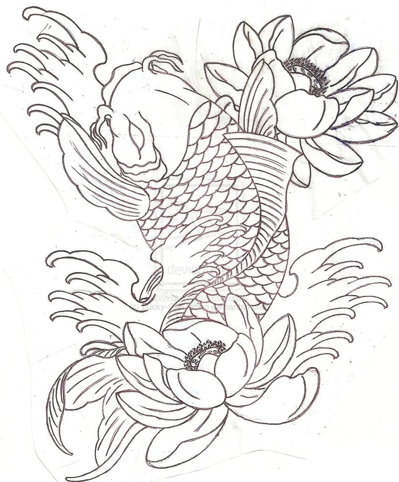 Japanese Fish Drawing At Getdrawings Free For Personal Use