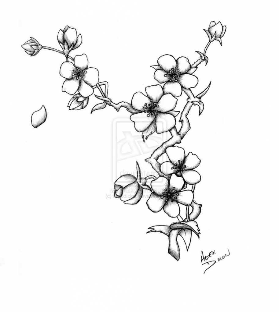 913x1024 Japanese Flower Drawing