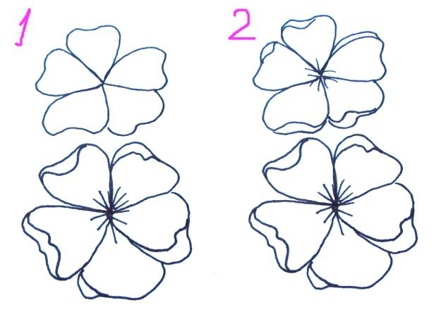 625x460 Japanese Flower Drawing A A Drawing Flower Media