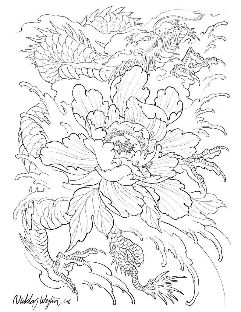 791x1024 Japanese Flowers In Tattooing By Nicklas Westin Ebook