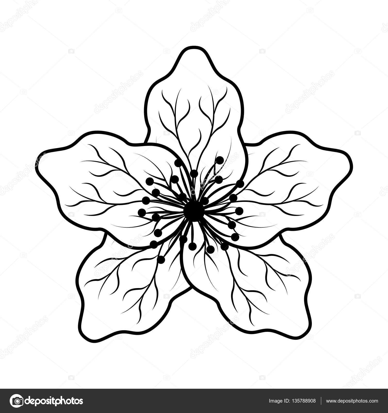 1600x1700 Cute Japanese Flower Icon Stock Vector Yupiramos