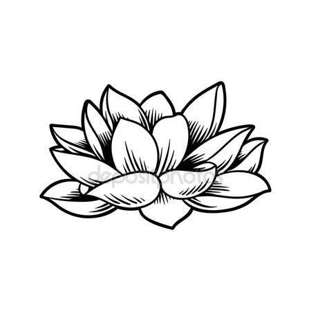 450x450 Illustration Design Japanese Tradition Style Flower Lotus Stock