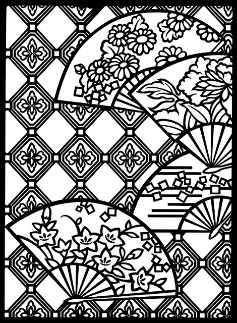 470x640 Japanese Designs Stained Glass Coloring Book Japanese, Galleries