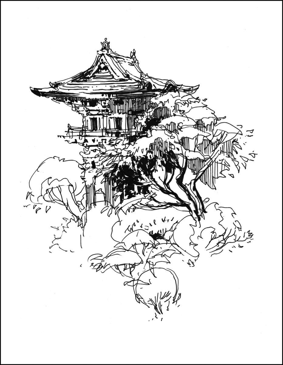 932x1200 Japanese Garden Golden Gate Park, Urban Sketchers And Sketchers
