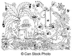 250x194 Zen Garden Illustration. Minimal Japanese Rock Garden Icon