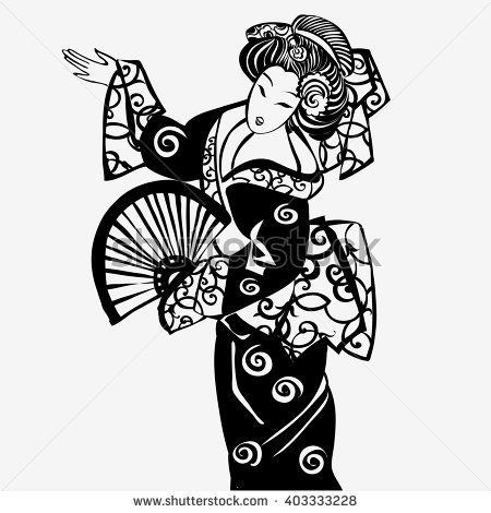 Japanese Geisha Drawing