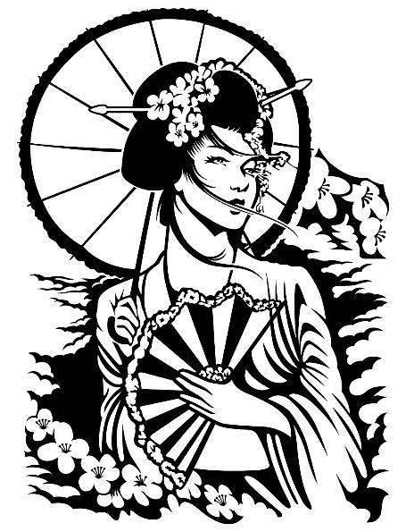 455x595 Geisha Woman