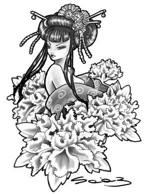 300x390 Art Japanese Tattoos With Image Japanese Geisha Tattoo Designs