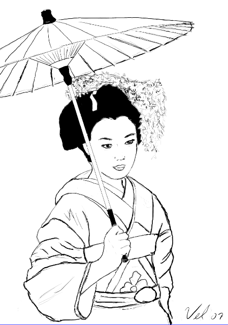 449x640 Inspired By Morbidvain's Geisha, New Picture +background