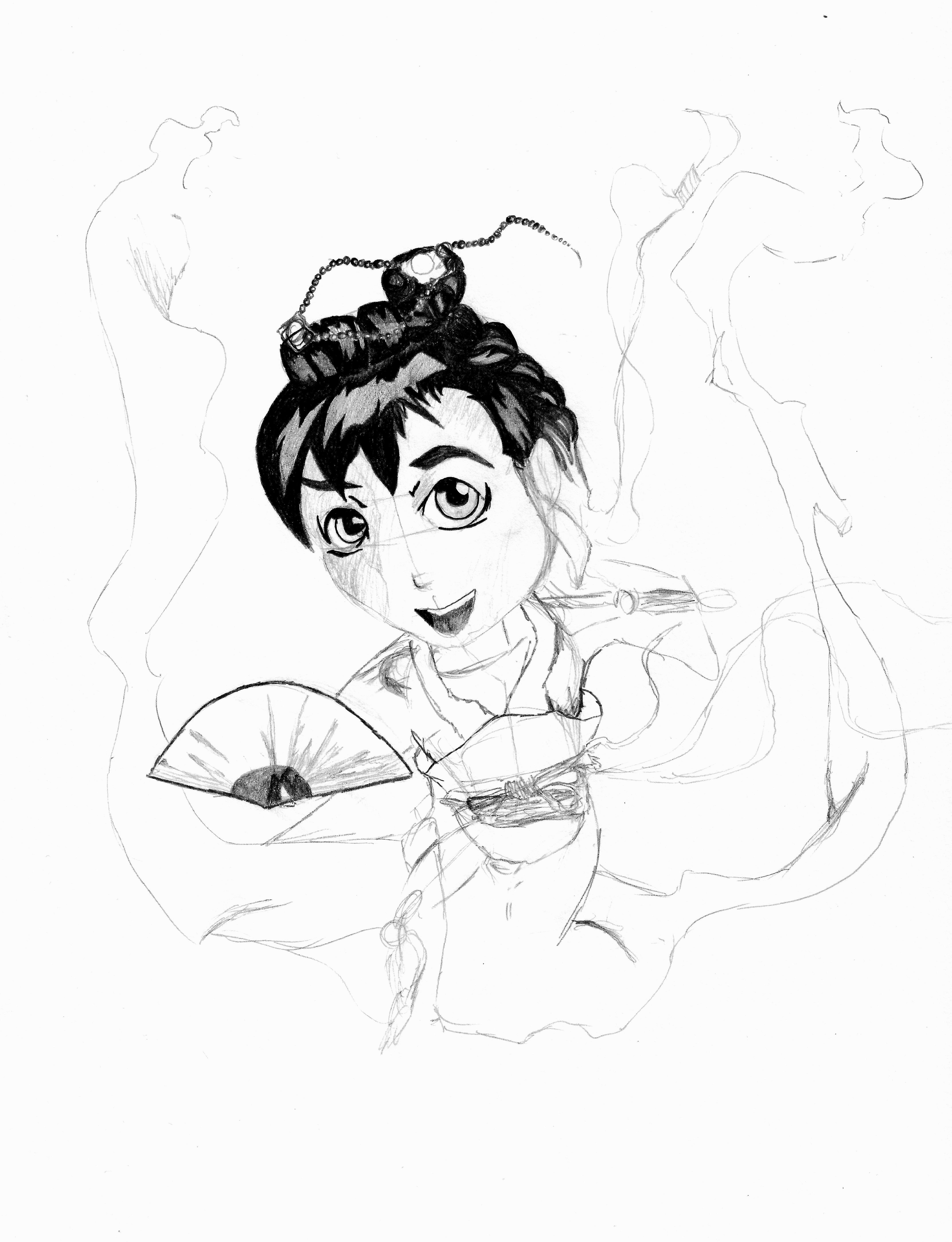 4296x5604 Japan Princess Drawing Face Best Geisha Drawing Ideasly