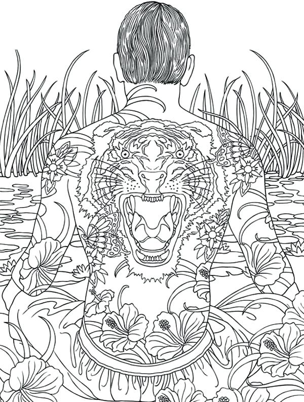 600x794 Japanese Art Coloring Pages Adult Coloring Medium Size Geisha