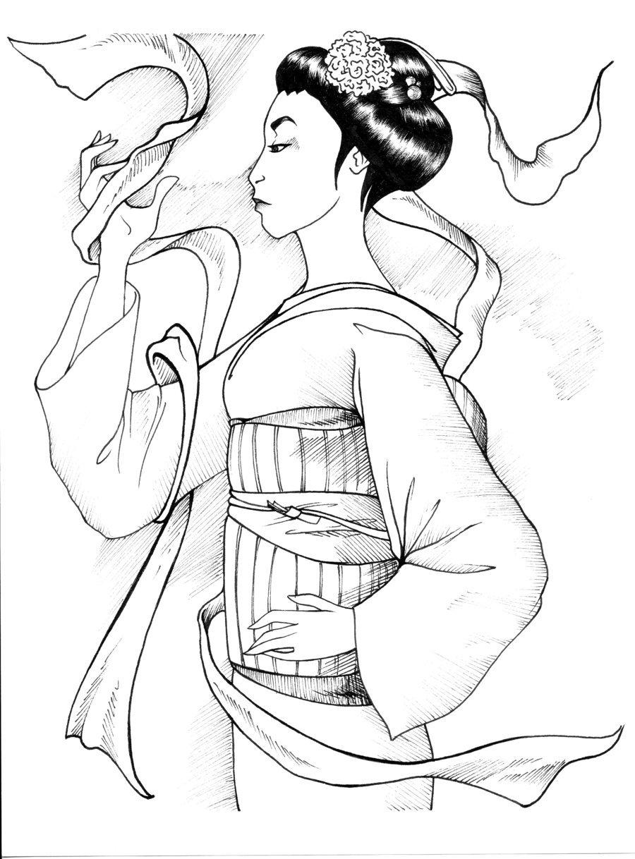 900x1218 Japanese Geisha By Shyangell