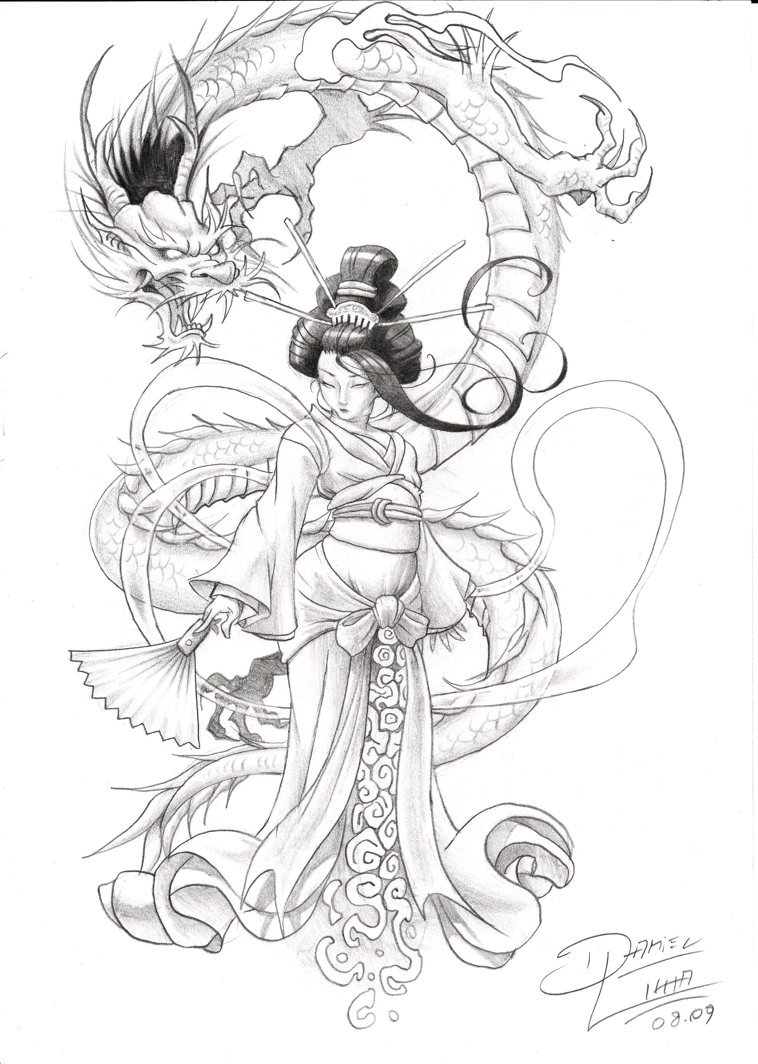 2500x3508 Pin By Alicia On All Inked Up. Tattoo, Geisha