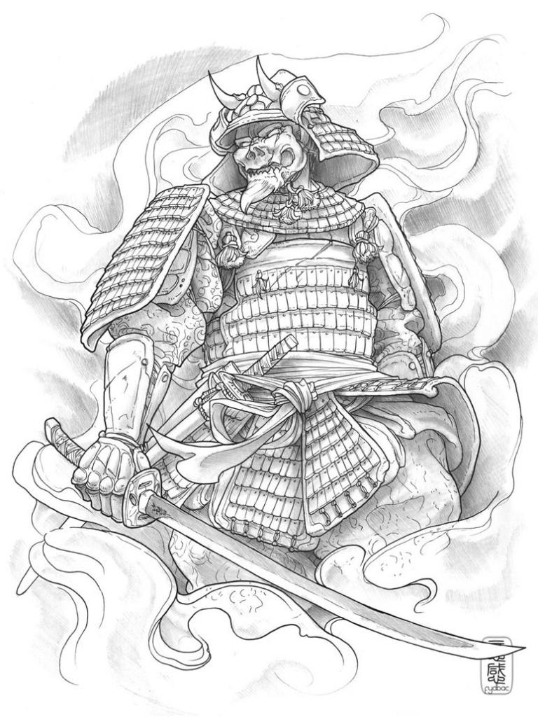 768x1024 Samurai Warrior Tattoo Designs Tag Japanese Geisha Warrior Tattoo