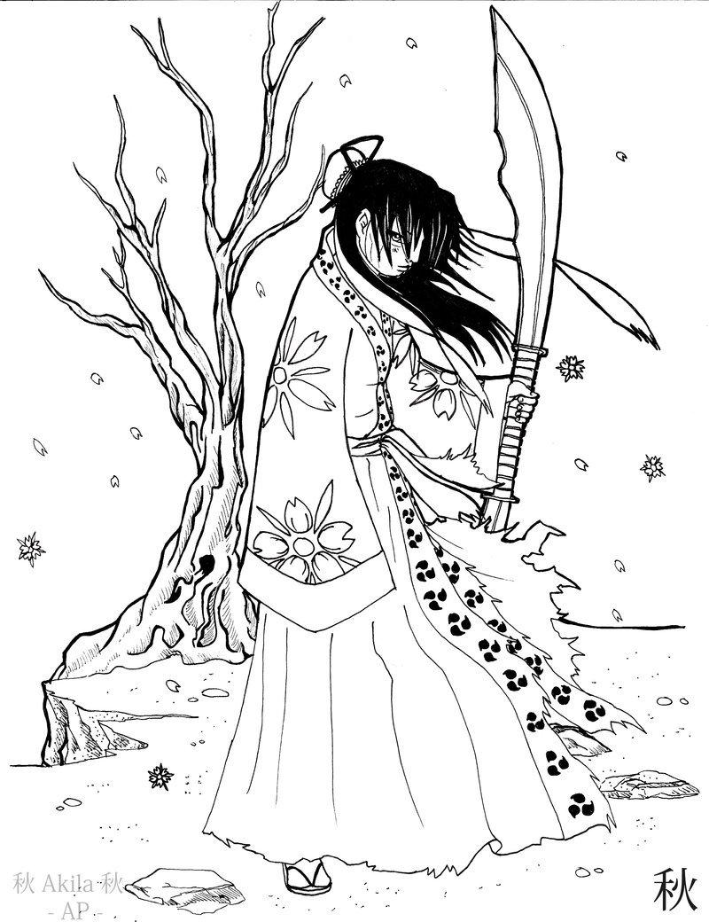 800x1040 Female Samurai Warrior By Aki Ap