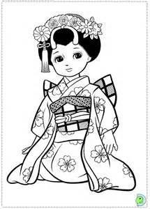 215x300 Free Coloring Page Little Japanese Child Style Drawing