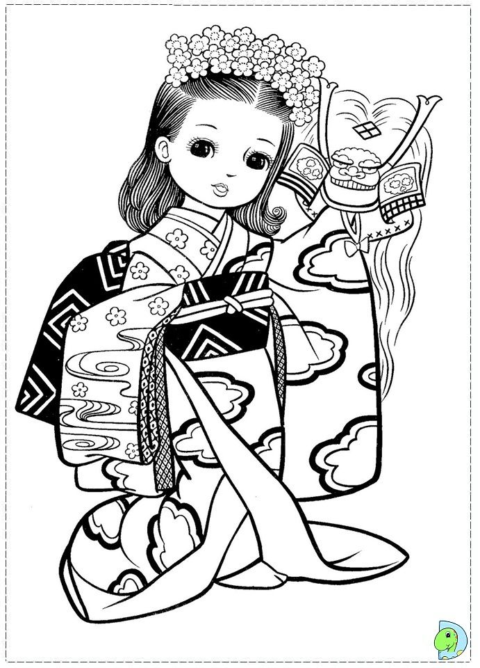 691x960 Japan Girls Day Images Coloring Pages For All