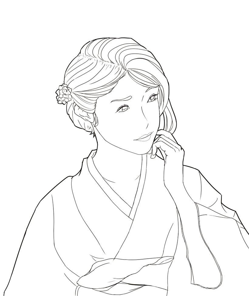 820x975 Beautiful Japanese Girl Wearing A Kimono