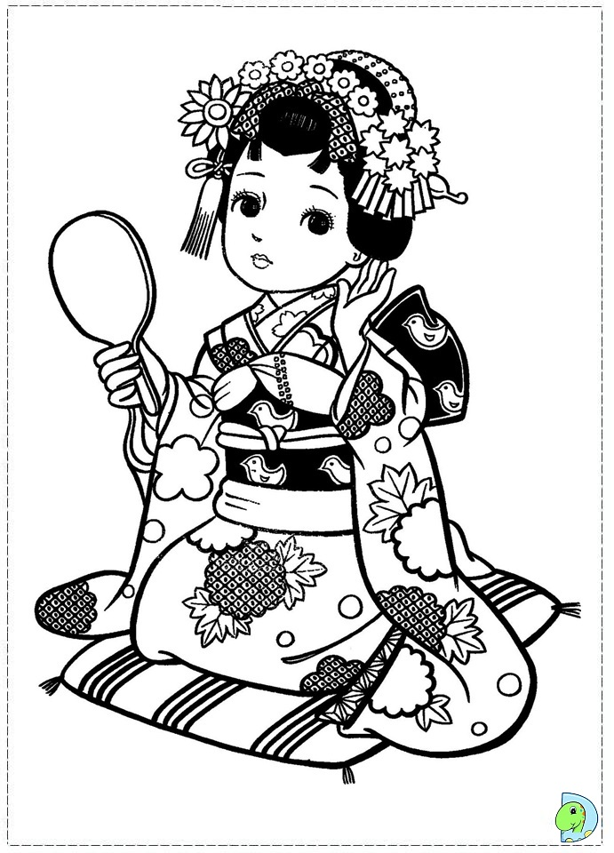 691x960 Japanese Girl Dressed As Geisha Japanese, Dolls And Adult Coloring