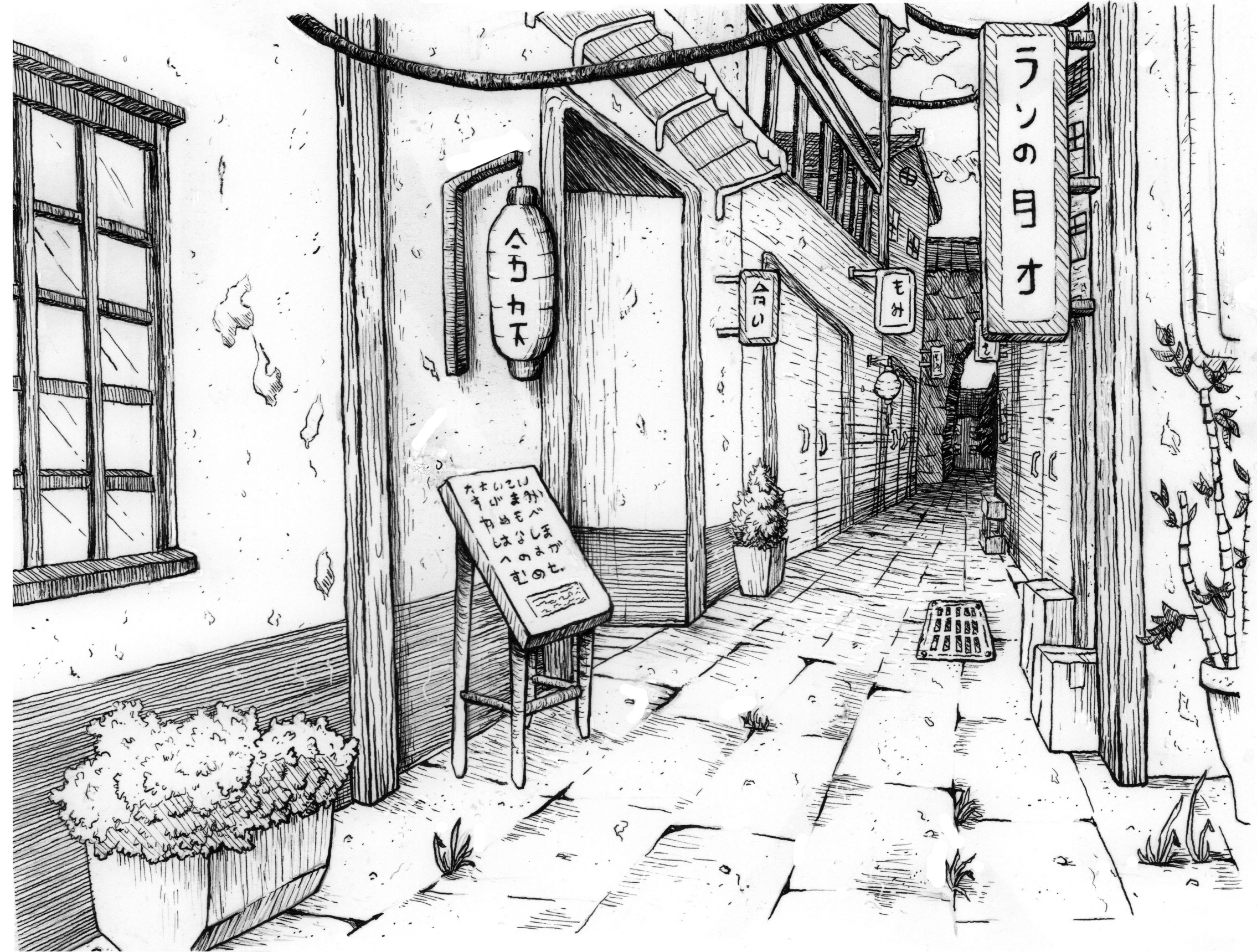 2270x1719 Japanese City Sketches On Behance
