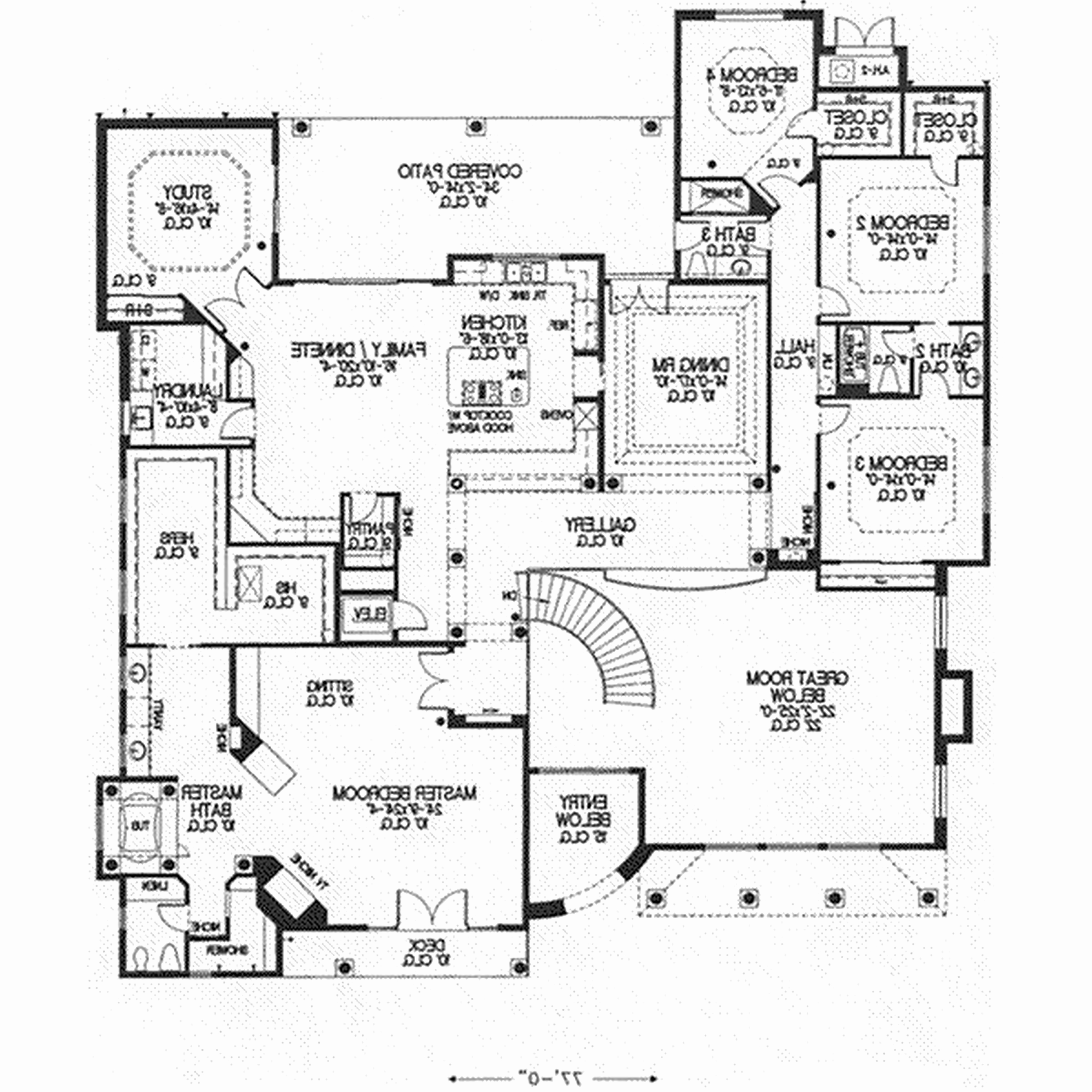 5000x5000 Japanese Style House Plans