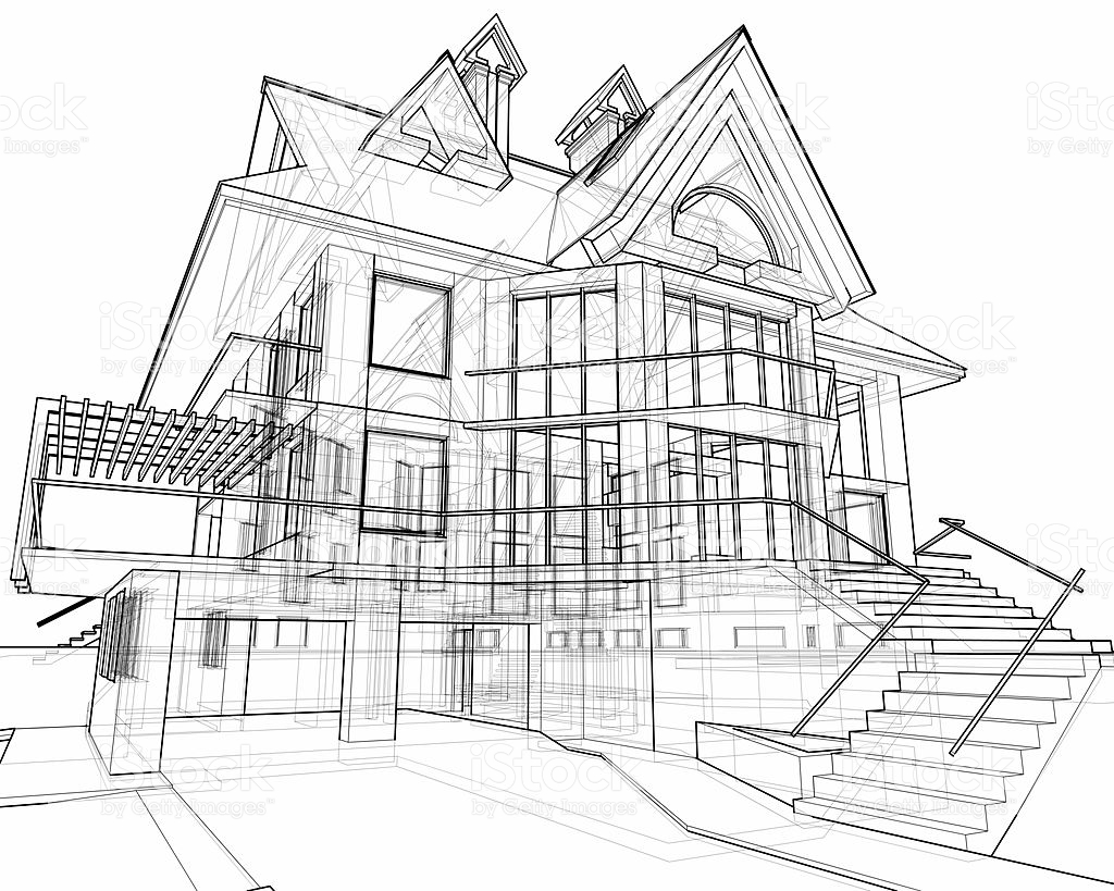 1024x819 Pictures How To Draw A House 3d,