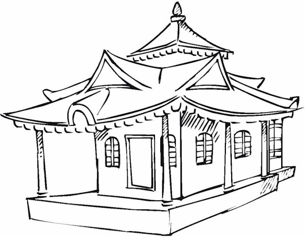 630x489 Asian Coloring Page
