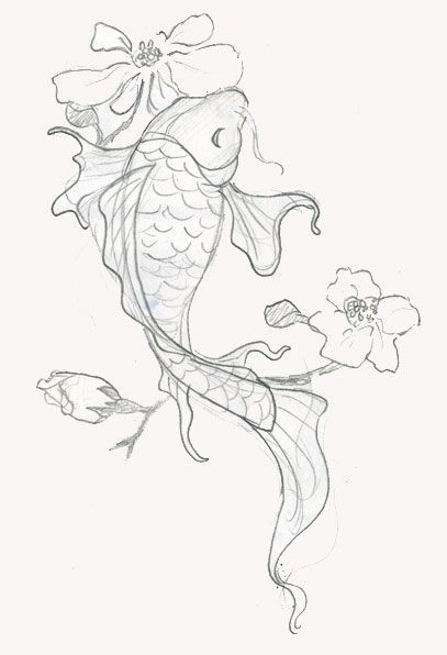 407x596 110 Best Japanese Koi Fish Tattoo Designs And Drawings Koi Fish