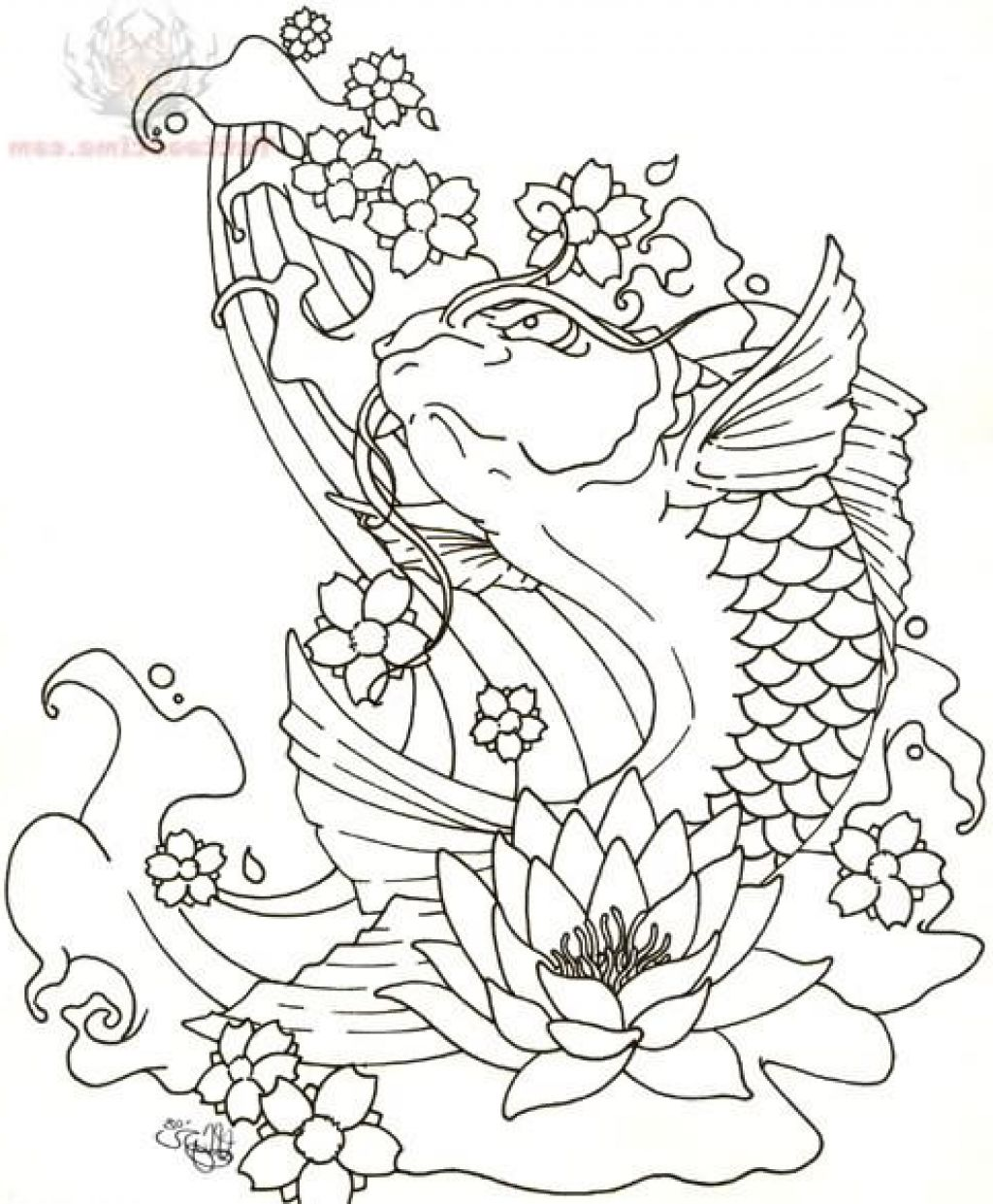 1024x1241 Japanese Koi Fish Tattoo Designs
