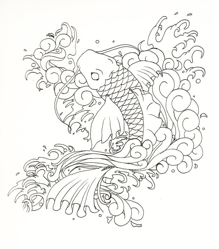 736x838 16 Best Koi Designs Images On Draw, Fish Tattoos