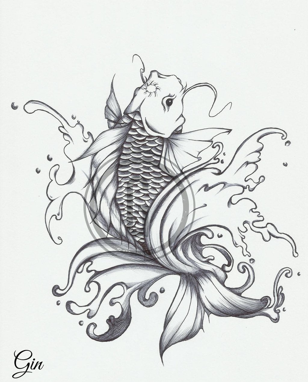 1024x1269 Japanese Koi Tattoo Design By Iruxoz